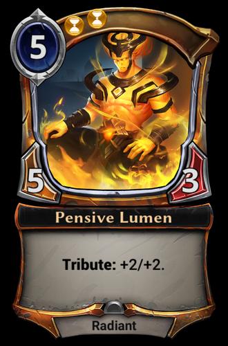 Pensive Lumen card