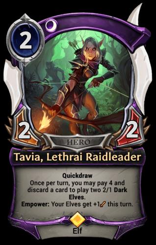 Tavia, Lethrai Raidleader card