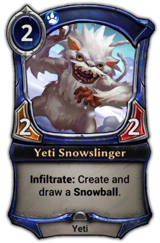 Yeti Snowslinger card