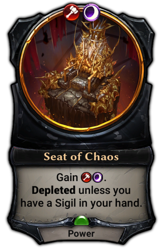 Seat of Chaos card