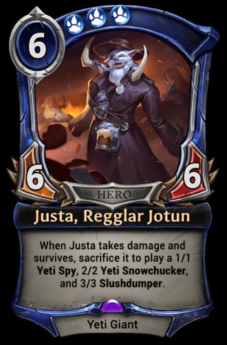 Justa, Regglar Jotun card