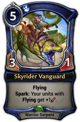 Skyrider Vanguard card
