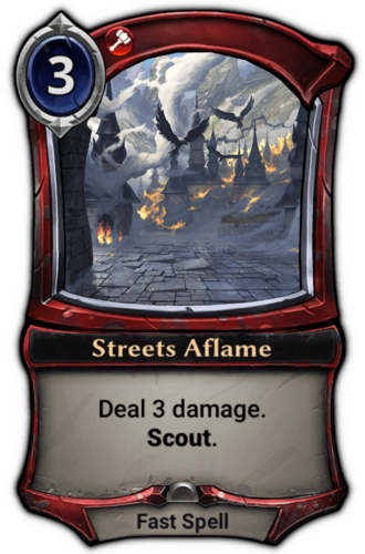 Streets Aflame card