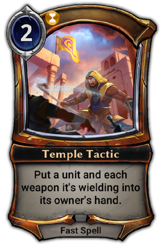 Temple Tactic card