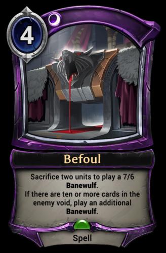 Befoul card
