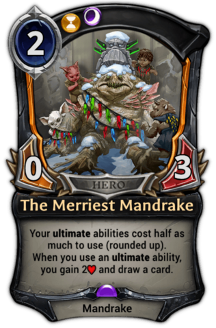 The Merriest Mandrake card