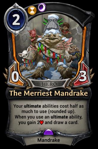 The Merriest Mandrake card