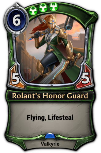 Rolant's Honor Guard card