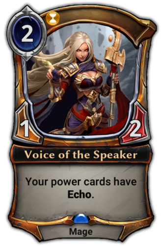 Voice of the Speaker card
