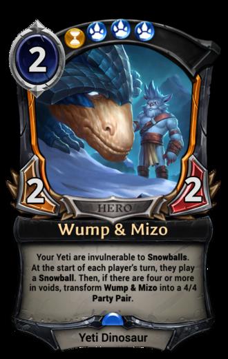 Wump & Mizo card