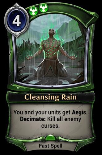 Cleansing Rain card