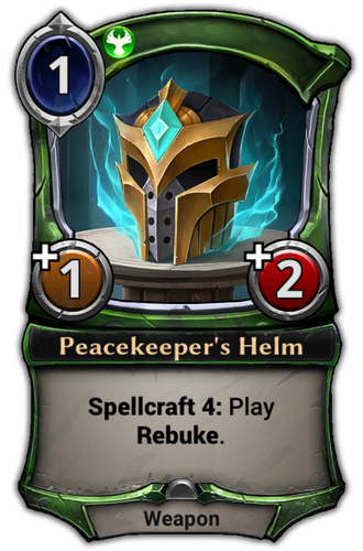 Peacekeeper's Helm card