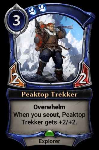 Peaktop Trekker card