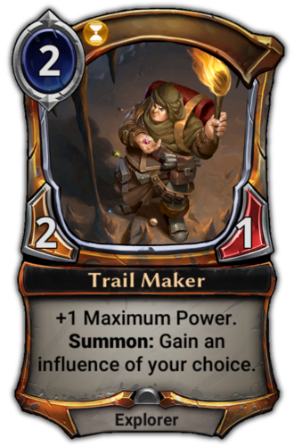 Trail Maker card