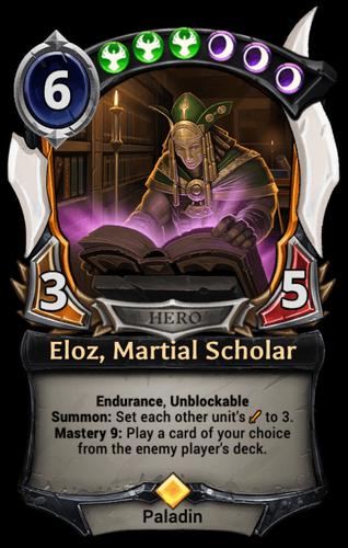 Eloz, Martial Scholar card