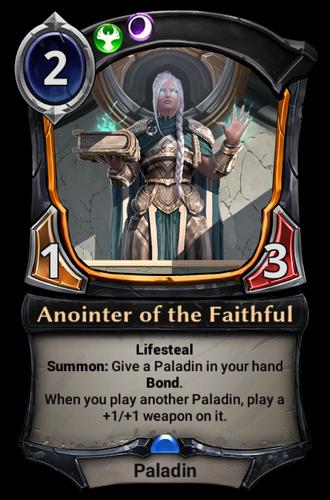 Anointer of the Faithful card