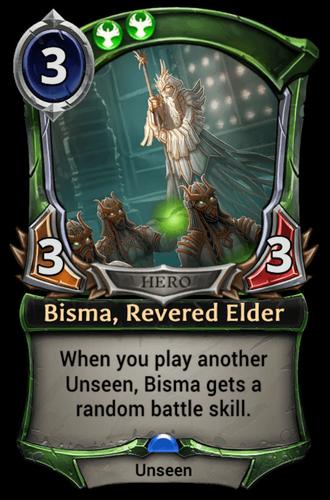 Bisma, Revered Elder card