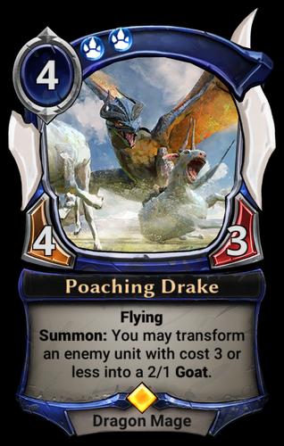 Poaching Drake card