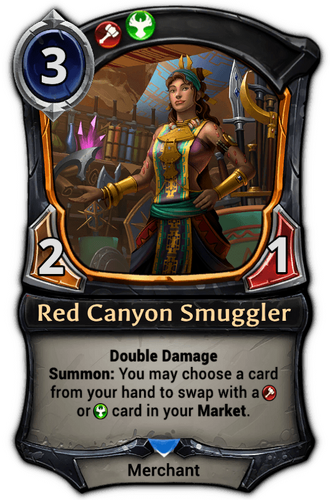 Alternate-art Red Canyon Smuggler card