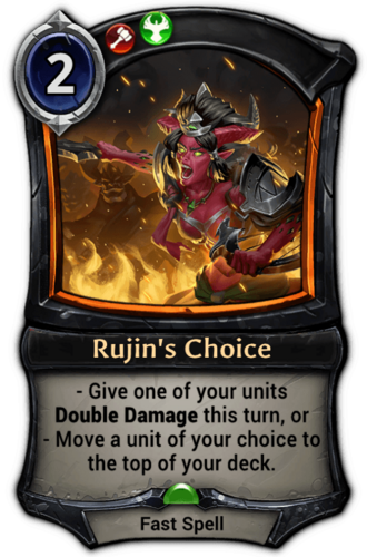 Rujin's Choice card