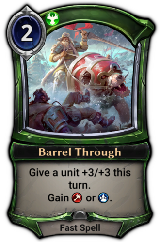 Barrel Through card