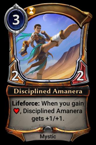 Disciplined Amanera card