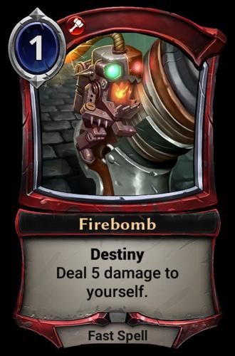 Firebomb card