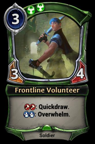 Frontline Volunteer card
