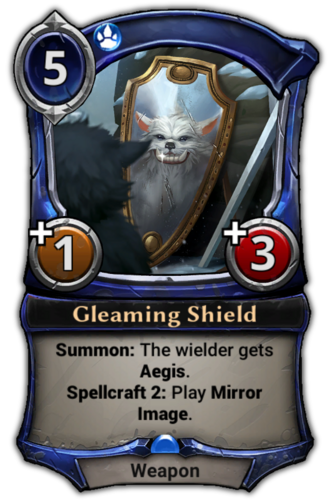 Gleaming Shield card