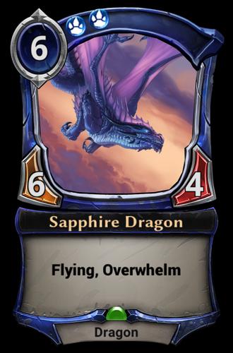 Sapphire Dragon card