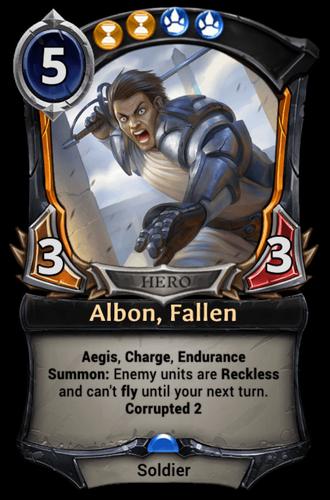 Albon, Fallen card