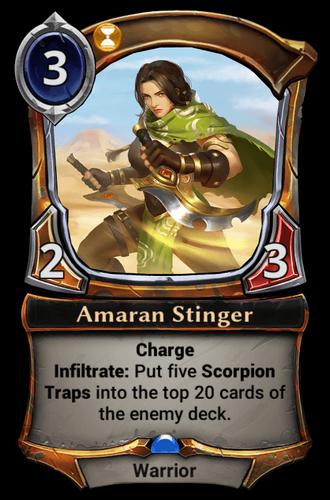 Amaran Stinger card