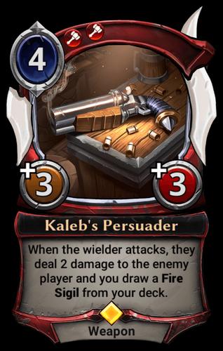 Kaleb's Persuader card