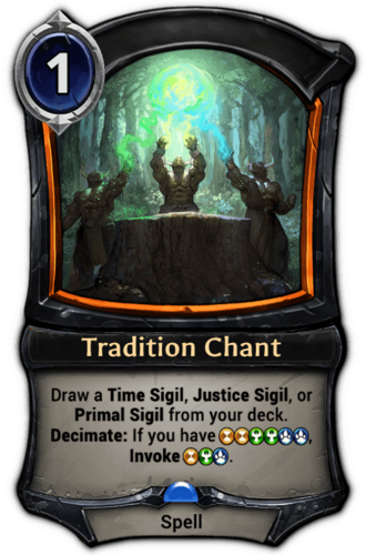 Tradition Chant card