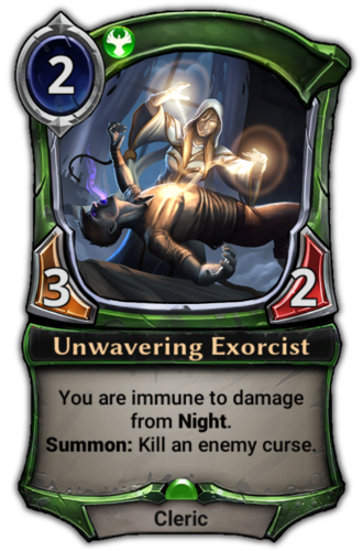 Unwavering Exorcist card