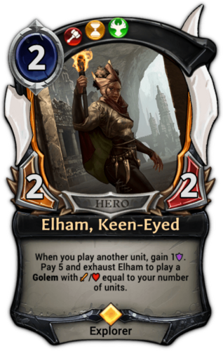Elham, Keen-Eyed card