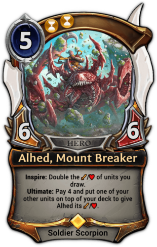 Alhed, Mount Breaker card