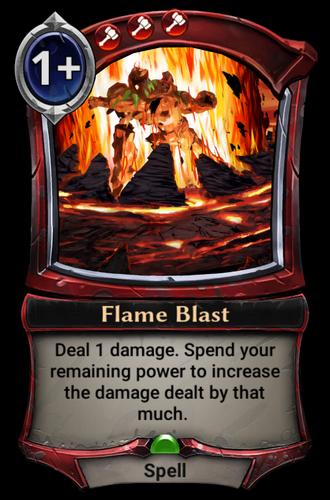 Flame Blast card