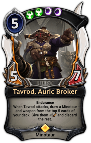 Tavrod, Auric Broker card