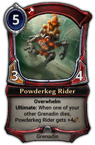 Powderkeg Rider card