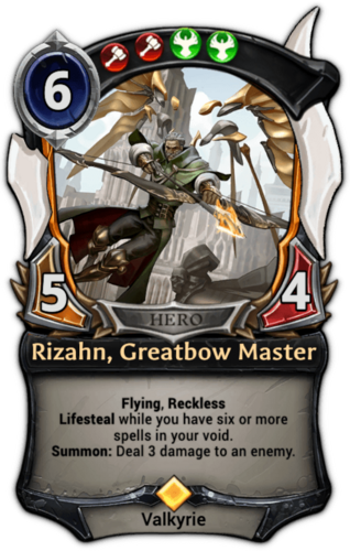 Rizahn, Greatbow Master card