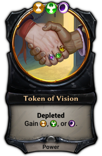 Token of Vision card