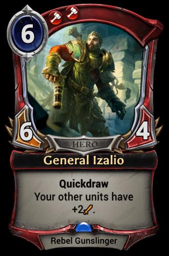 General Izalio card