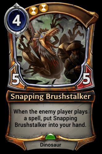 Snapping Brushstalker card