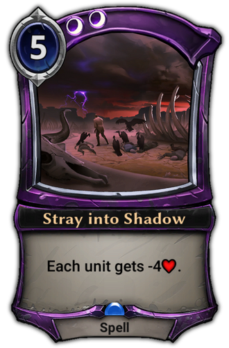 Stray into Shadow card