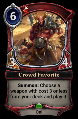 Crowd Favorite card