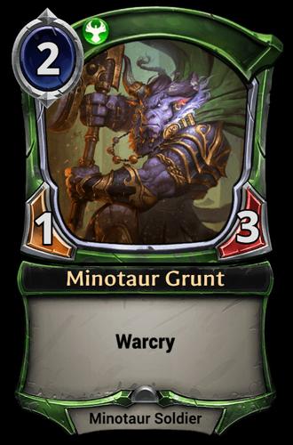 Minotaur Grunt card