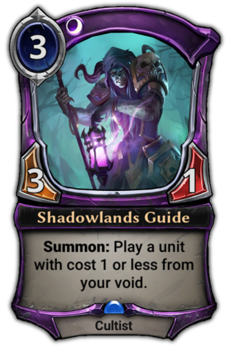 Shadowlands Guide card