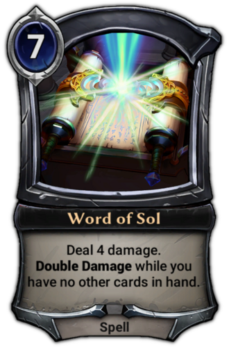 Word of Sol card