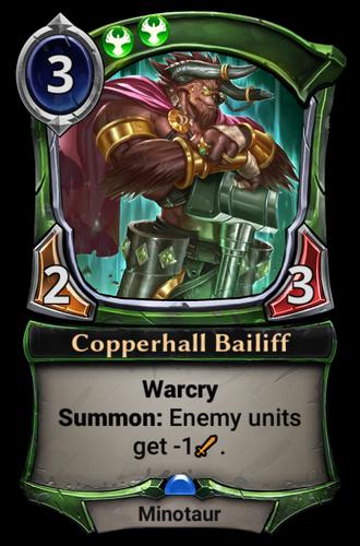 Copperhall Bailiff card